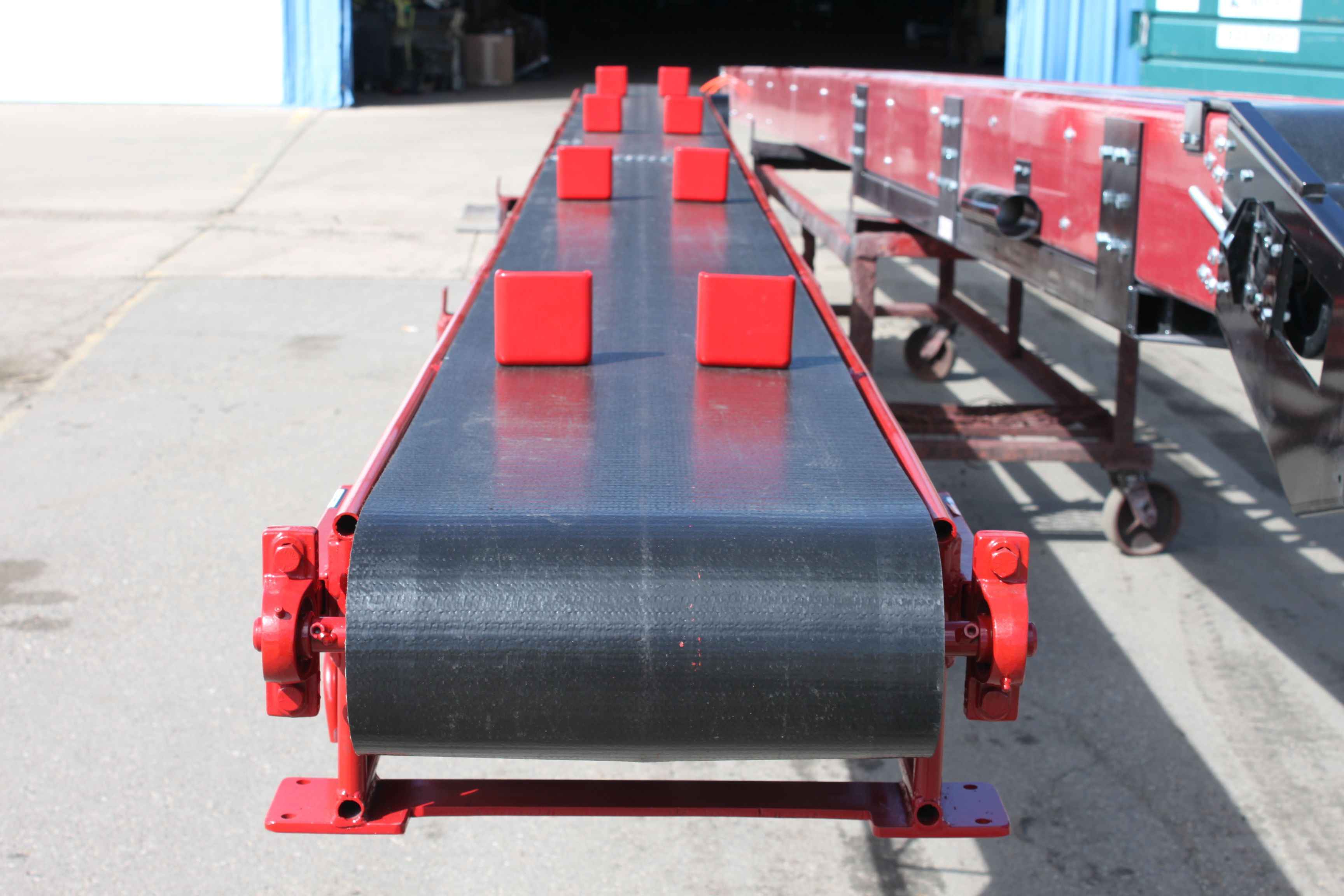 Front view of conveyor