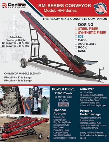 RM-2318 Ready Mix Conveyor Spec Sheet